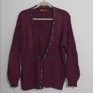Vintage AEO Oversized knit cardigan sweater